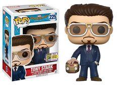Funko - Pop! Marvel: Spider-Man Homecoming – Tony Stark (holding helmet) #SDCC2017 Exclusive