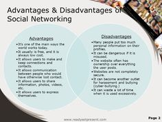 social media advantage and disadvantage - Google Search