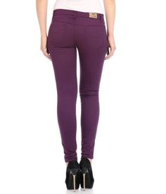 LadyIndia.com # Danims, Flyjohn Purple Cotton Lycra Jeans, Jeans, Danims, Women Skinny Jeans, Ripped Jeans, https://ladyindia.com/collections/western-wear/products/flyjohn-purple-cotton-lycra-jeans?variant=30220695181