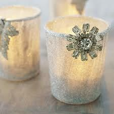 Candle holders (or stick directly into larger candles--with ribbon trim?)