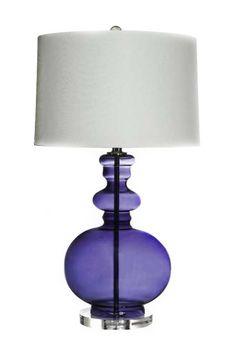 Beautiful purple lamp