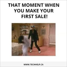 The first sale dance! Get killer inbound marketing from http://techhelp.ca