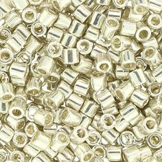 Size 8 Metallic Galvanized Silver Delica Beads - DBL0035 | Fusion Beads WHAT could one do with these!!