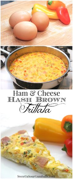Hash Brown Ham Frittata is an easy meal for breakfast, brunch or dinner.