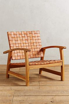 Leather Loom Armchair - anthropologie.com