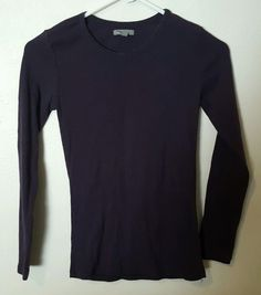 Women's Gap Basic Long Sleeve Purple Top Size XS #314 in Clothing, Shoes & Accessories, Women's Clothing, Tops & Blouses | eBay