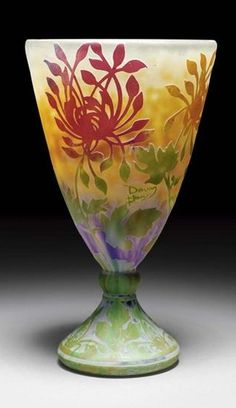 daum crystal | Les frères DAUM | Vases and glass art