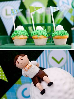 Golf Party Desserts and Cake Cupcakes