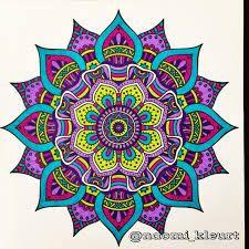 Afbeeldingsresultaat voor mandalas coloreadas a mano faciles