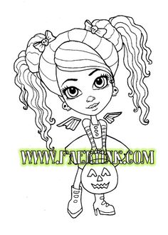 Vamp Angel Cutie Trick or Treat Halloween Vampire No by FaeryInk, $3.00