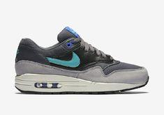 huge discount 534de b52a8 Nike Air Max 1 Jade Swoosh Donker Grijs jade-racer Blauw-zwart Damesschoenen