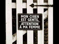 Funny Quotes : chien-femme -pancarte-barrière-humour-blague- The Love Quotes New Quotes, Funny Quotes, Funny Memes, Hilarious, Jokes, Humor Quotes, Makeup Humor, Funny Makeup, Image Fun