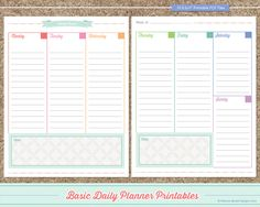 free printable planner, free  daily planner printables #dailyplannerprintables