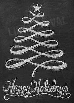 Image result for chalk christmas tree