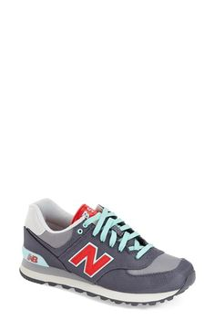 shipping and returns on New Balance Sneaker (Women) at . Available in a rainbow of hues, this cool street sneaker combines retro design and smart, sporty detailing for a look that transcends time and trends. Estilo New Balance, New Balance Style, New Balance 574, New Blance Shoes, Sneaker Games, New Balance Sneakers, Slipper Socks, Best Sneakers, Sport Wear