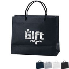 "Matte Finish Eurotote Gift Bag, 10"" x 8"" - Free Set Up Charges!"