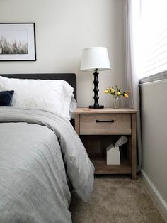 The one thing I want when people come to our house, either for dinner, or overnight, is to feel comfortable. I want them to feel at home. Airy Bedroom, Bedroom Simple, Home Bedroom, Bedroom Decor, Bedroom Ideas, Master Bedroom, Guest Room Paint, Bedroom Paint Colors, Paint Colors For Home