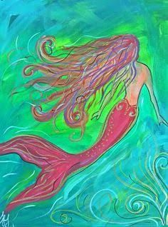 Image result for sip and paint mermaid