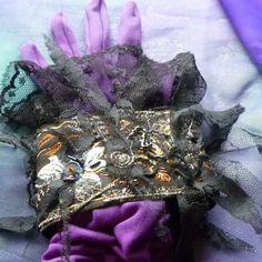 Cuff Wristlet Vampire Cuff Gothic Black Cuff Lace by gothB4play, $13.13