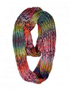 Multicolor Infinity Scarf Super Soft Infinity Cowl Tube Scarf Knit Circle Scarf Men Women Winter Accessories Gift Ideas Under 50 by GrahamsBazaar, $19.99