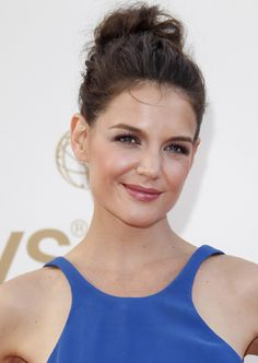 Katie Holmes's pretty messy--but so pretty--updo.