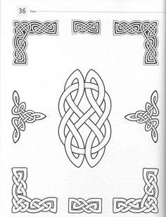 Кельтские узоры. Библиотека образцов (СКАН!) (125 фото) Viking Art, Viking Symbols, Wood Burning Patterns, Wood Burning Art, Celtic Dragon, Celtic Art, Leather Tooling Patterns, Celtic Knot Designs, Celtic Patterns
