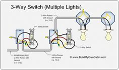 ❧ 3 way switch diagram (multiple lights between switches 3 Wire Switch Diagram 3 way switch to multiple lights
