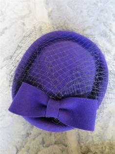 Purple Pill Box Hat
