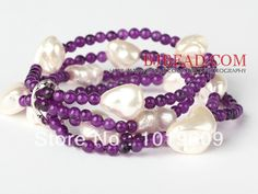 Aliexpress.com : Buy Free Shipping new design hot multi strand purple jade and seashell beads woman bracelet from Reliable Special Store sup...