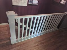 Staircase railing refinished in a custom white by Chameleon Painting SLC, UT. Furniture, Refinishing Cabinets, Room, Home, Railing, Staircase Railings, Refinishing Furniture, Staircase, Laundry Room Cabinets