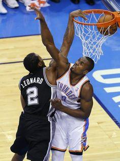 Kawhi Leonard posterized Serge Ibaka in Game 6 of the 2014 NBA Western Conference Finals