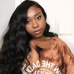 Eayon hair Body Wave Full Lace Wigs 130% Density Brazilian Virgin Remy Human Hair Wigs with Baby Hair 16 inch Natural Color *** Read more reviews of the product by visiting the link on the image. (This is an affiliate link and I receive a commission for the sales)