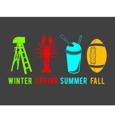 New Orleans. Mardi Gras Season. Crawfish Season. Snow Cone Season. Saints Season.