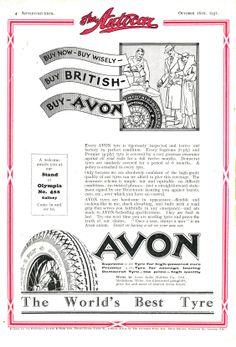 Avon Car Tyre Autocar Advert 1931 - Buy wisely - buy British - Buy Avon