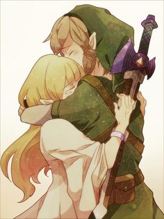 The Legend of Zelda Fan Art: Link and Zelda