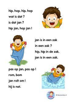 hip hop hip hop, verhaaltje voor kleuters die beginnen te lezen, AVI-start, kleuteridee.nl, free printable