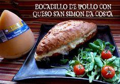 Bocadillo de pollo con queso San Simón da Costa.