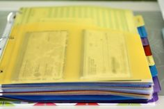 DIY: How to organize your household binder. I use a binder for household records and can use some ideas to make it a little better.