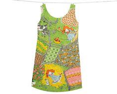 Farmer Girl Shift Dress -- Custom Made by Wear the Shift. $169.00, via Etsy.