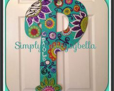 Personalized Wood Letter/ Initial Door by SimplyShabbyByBella