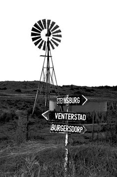 Black and White Old Windmills, My Land, Art Sketches, Wind Turbine, South Africa, Wind Mills, Afrikaans, Black And White, Diy Ideas