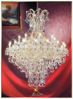 Aliexpress.com : Buy 18 ligths Gallery candle crystal chandelier light Maria Theresa chic chrome chandelier lighting C9171 100cm W x 100cm H from Reliable light quick suppliers on HK SUNWE LIGHTING CO., LTD.