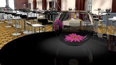 Centro de mesa para Chica Htv 2014  #C4D #3D #Design #diseño