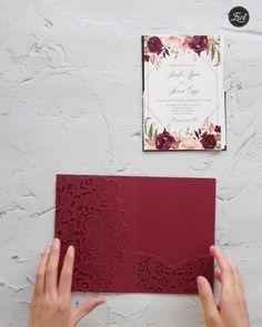 #EWI wedding invitation DIY ideas #WeddingInvitations #burgundywedding