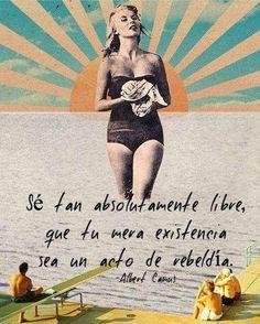 No hay más suerte que aquella que fábricas tu ❤️ #libre #rebelde #mujerholistica #bienestar #soylibre #existencia #albertcamus #frases #inspiracion