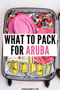 Don't forget anything at home with this Aruba packing list! Learn what to wear in Aruba, what to pack for the beach, and other essential items to pack for an Aruba vacation. | what to wear in the evening in aruba | packing list for vacation aruba | things to pack aruba | aruba dress code |packing list for aruba | what to pack for aruba vacation | what to bring to aruba | things to bring to aruba | what to wear in aruba What To Pack For Vacation, Beach Vacation Packing List, Packing List For Travel, Vacation Travel, Beach Travel, Travel Capsule, Packing Lists, Dream Vacations, Family Travel