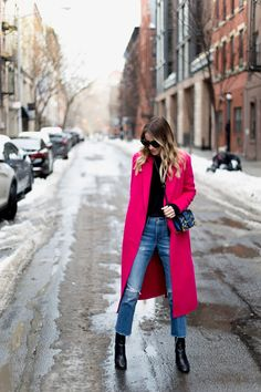 Little Blonde Book A Fashion Blog by Taylor Morgan: Pink Coat in New York