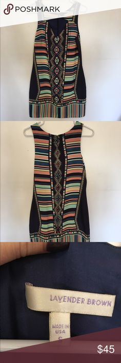 South Moon Under's Lavender Brown Cut-Out Dress This is a strapless Aztec-style dress with a cut out in the front. In like-new shape and perfect for spring and summer! Lavender Brown Dresses Strapless