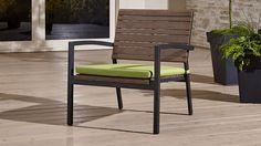 Rocha Lounge Chair with Sunbrella ® Cushion | Crate and Barrel