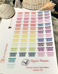LAUNDRY BASKETS Rainbow Colors - Planner Stickers - Erin Condren - MAMBI Happy Planner by PippasPlanner on Etsy